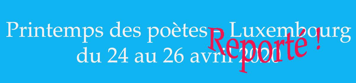Printemps des poètes – Luxembourg